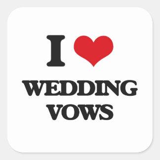 I love Wedding Vows Square Sticker