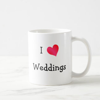 I Love Weddings Coffee Mug