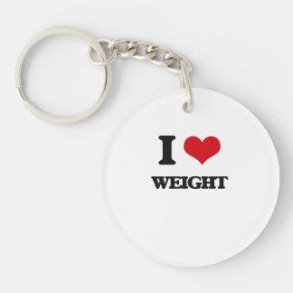 I love Weight Single-Sided Round Acrylic Keychain