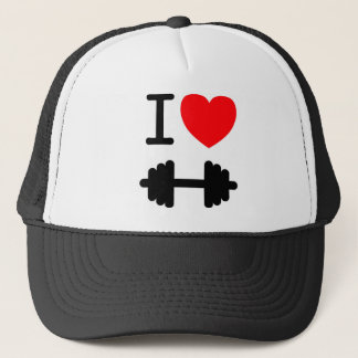 I Love Weightlifting Hat