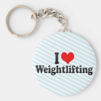 I Love Weightlifting Keychains