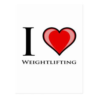 I Love Weightlifting Postcard