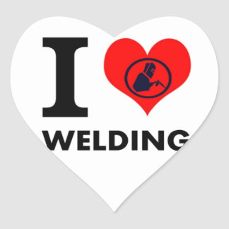 I love Welding Stickers