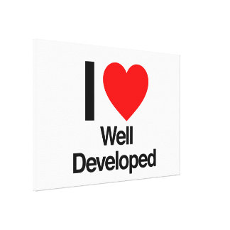 i love well developed gallery wrapped canvas