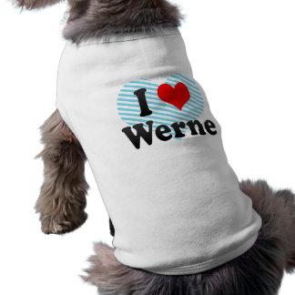 I Love Werne, Germany Sleeveless Dog Shirt