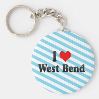 I Love West Bend, United States Key Chain