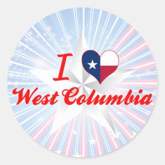 I Love West Columbia, Texas Round Sticker