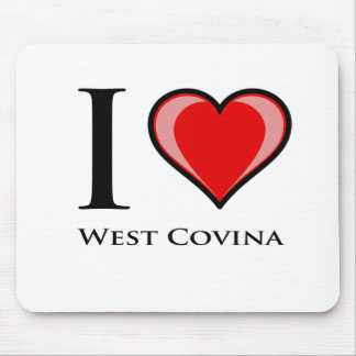 I Love West Covina Mouse Pads