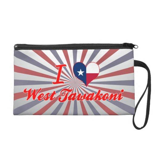 I Love West Tawakoni, Texas Wristlet Purses