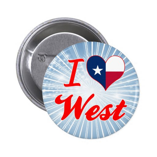 I Love West, Texas Pinback Button