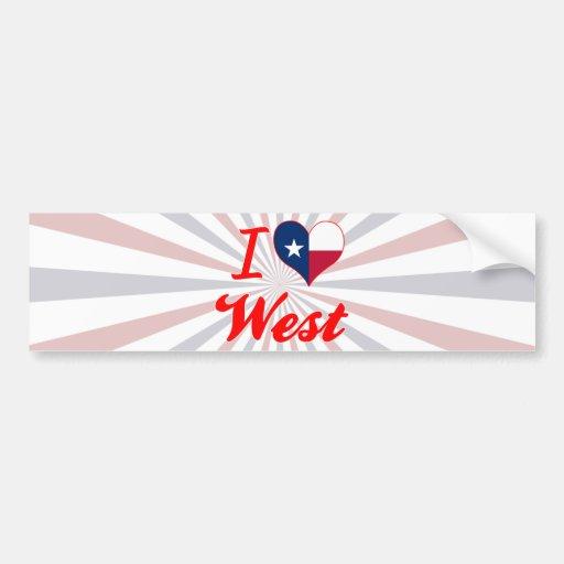 I Love West, Texas Bumper Sticker