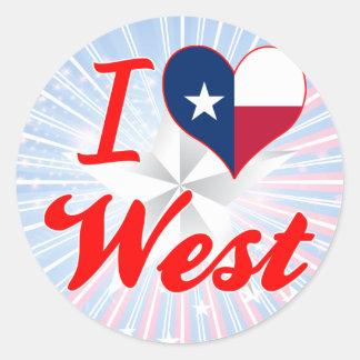 I Love West, Texas Sticker