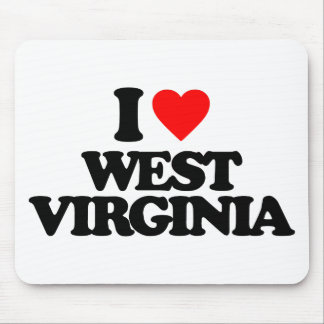 I LOVE WEST VIRGINIA MOUSE PADS