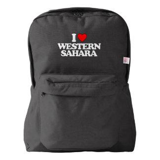 I LOVE WESTERN SAHARA BACKPACK