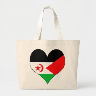 I Love Western Sahara Tote Bags