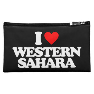 I LOVE WESTERN SAHARA COSMETIC BAGS
