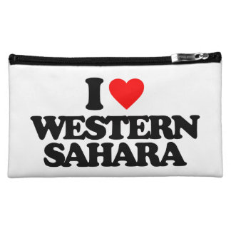 I LOVE WESTERN SAHARA MAKEUP BAGS
