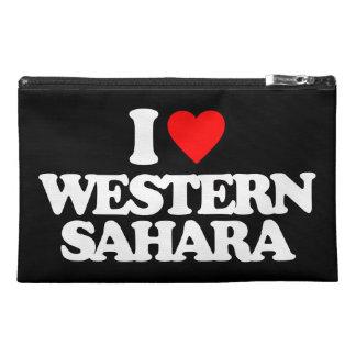 I LOVE WESTERN SAHARA TRAVEL ACCESSORIES BAG