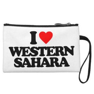 I LOVE WESTERN SAHARA WRISTLET PURSES