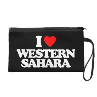 I LOVE WESTERN SAHARA WRISTLET CLUTCHES