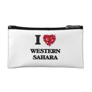 I Love Western Sahara Cosmetic Bag