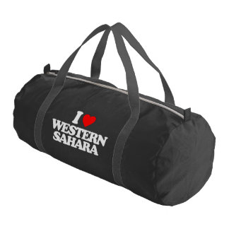 I LOVE WESTERN SAHARA GYM DUFFEL BAG