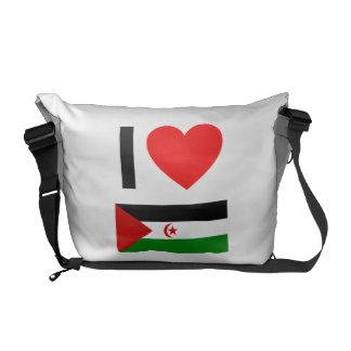i love western sahara messenger bag