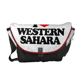 I LOVE WESTERN SAHARA MESSENGER BAGS