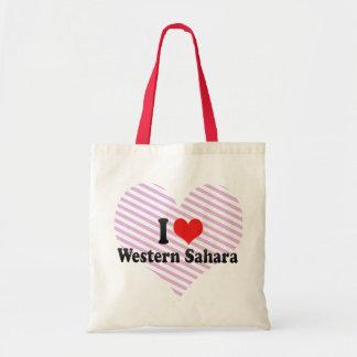 I Love Western Sahara Canvas Bag
