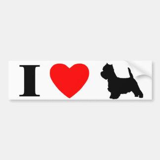 I Love Westies Bumper Sticker
