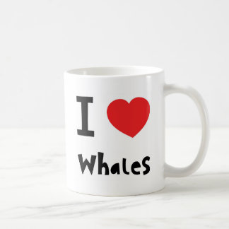 I love whales coffee mug