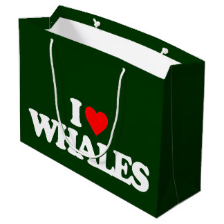 I LOVE WHALES LARGE GIFT BAG