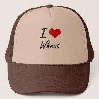 I Love Wheat artistic design Trucker Hat