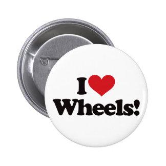 I Love Wheels! Pin
