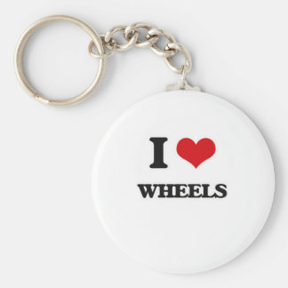 I Love Wheels Key Ring