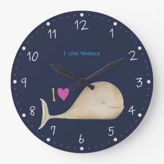I love Wheels Large Clock
