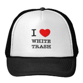 I Love White Trash Mesh Hat