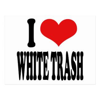 I Love White Trash Postcard
