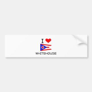 I Love Whitehouse Ohio Bumper Sticker