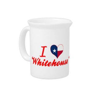 I Love Whitehouse, Texas Drink Pitcher
