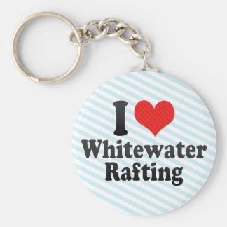 I Love Whitewater Rafting Key Ring