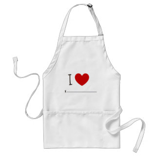 I love whoever standard apron