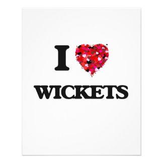 I love Wickets 11.5 Cm X 14 Cm Flyer