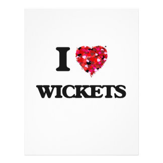 I love Wickets 21.5 Cm X 28 Cm Flyer
