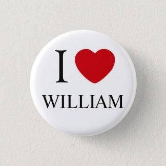 I Love William Badge