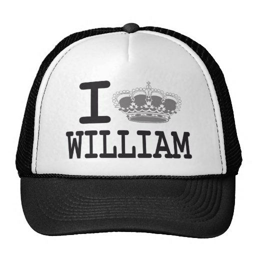 I LOVE WILLIAM - CROWN MESH HATS