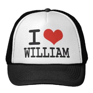 I LOVE WILLIAM TRUCKER HATS