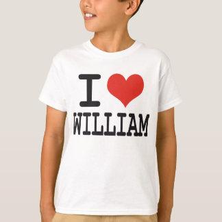 I LOVE WILLIAM T SHIRTS