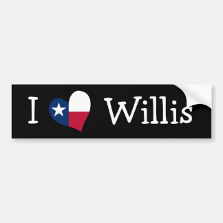I Love Willis Bumper Sticker