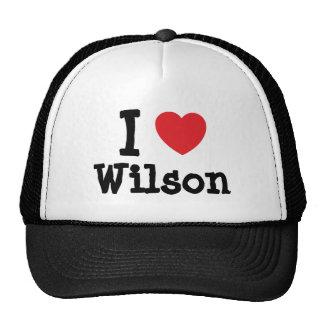 I love Wilson heart custom personalized Hat